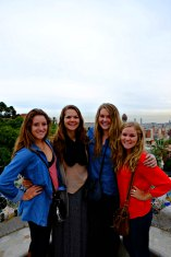 Students at Parc Guell, Barcelona