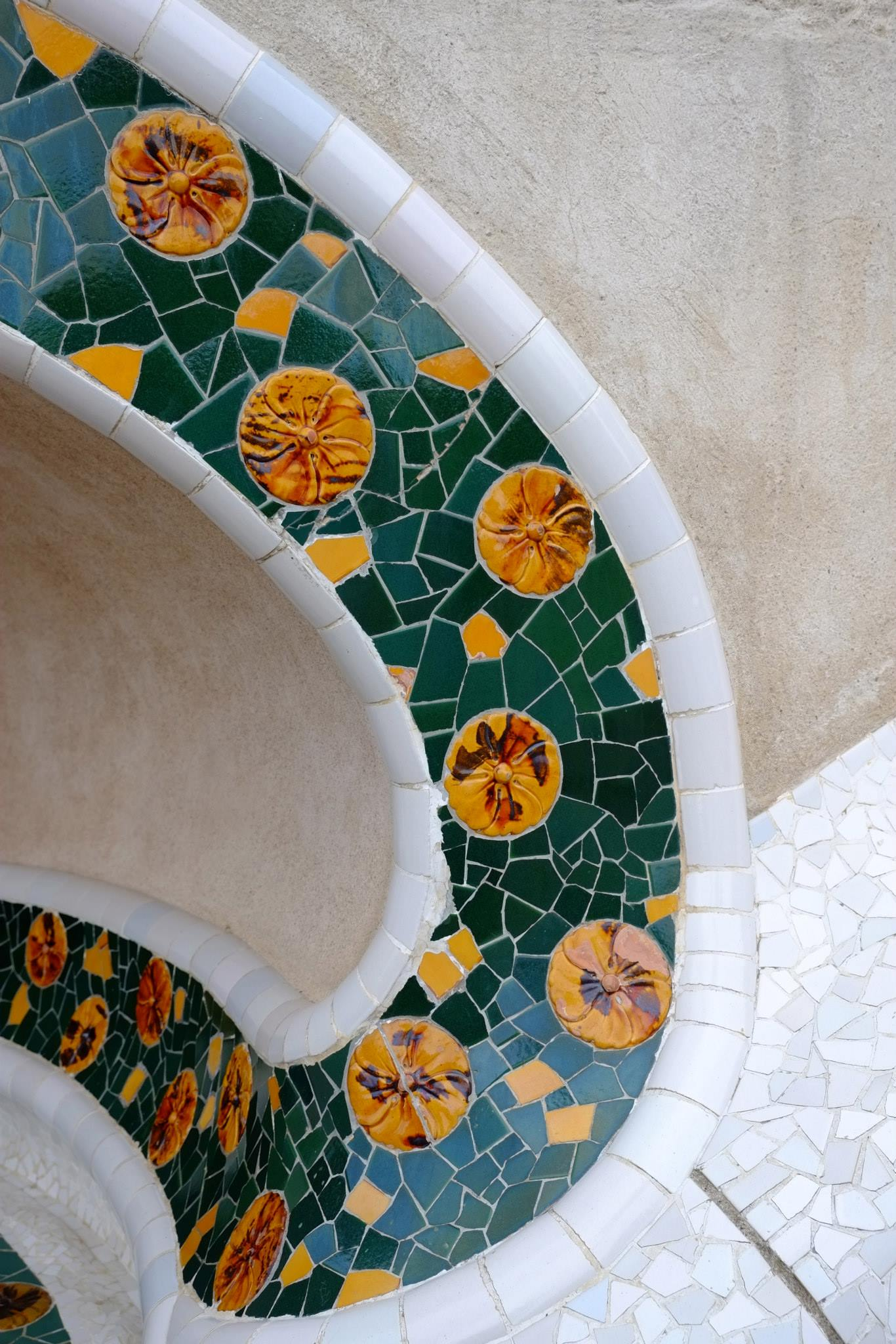 Tile Detail at Parc Guell