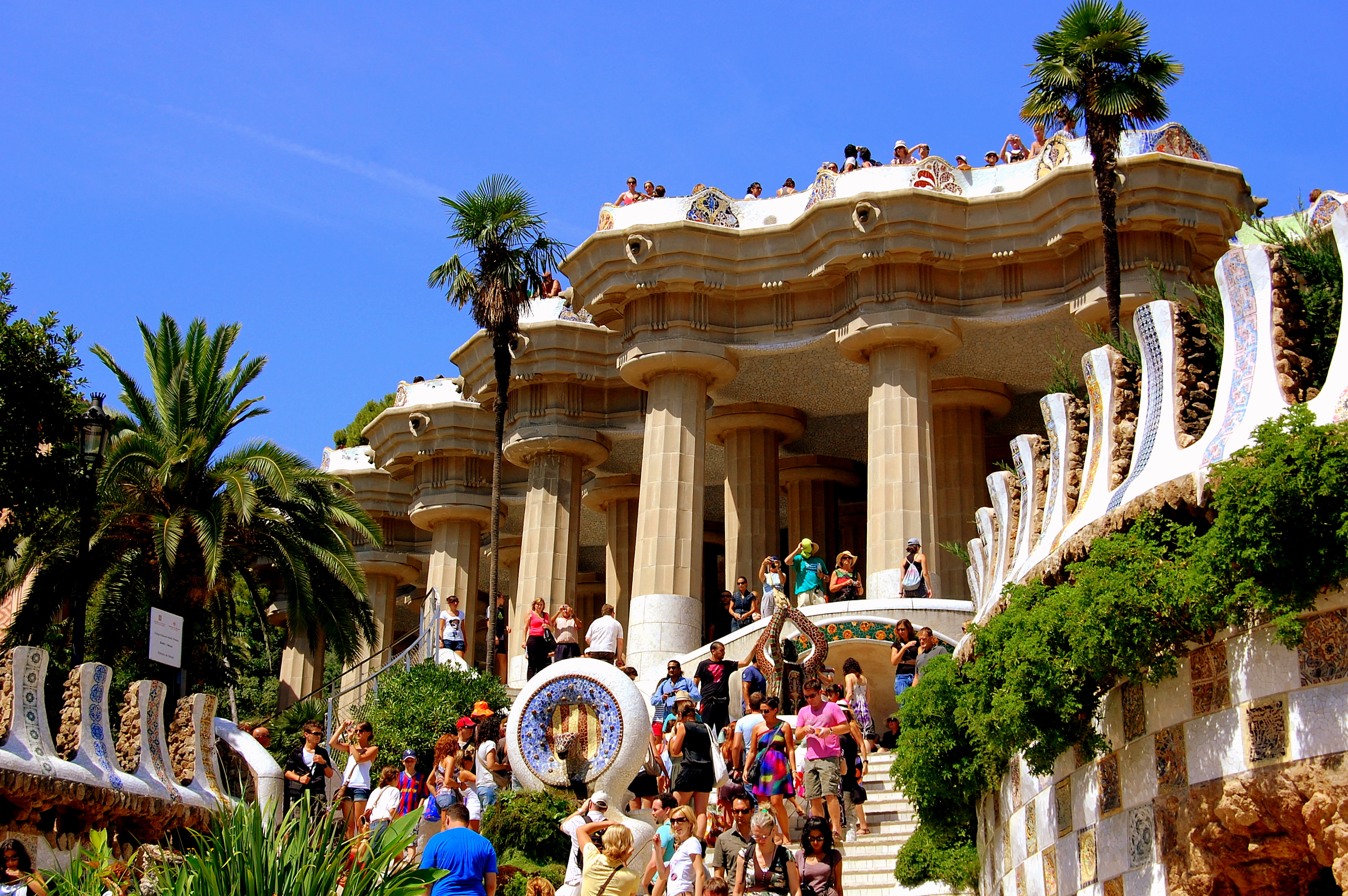 A view of Barcelona's Parc Guell