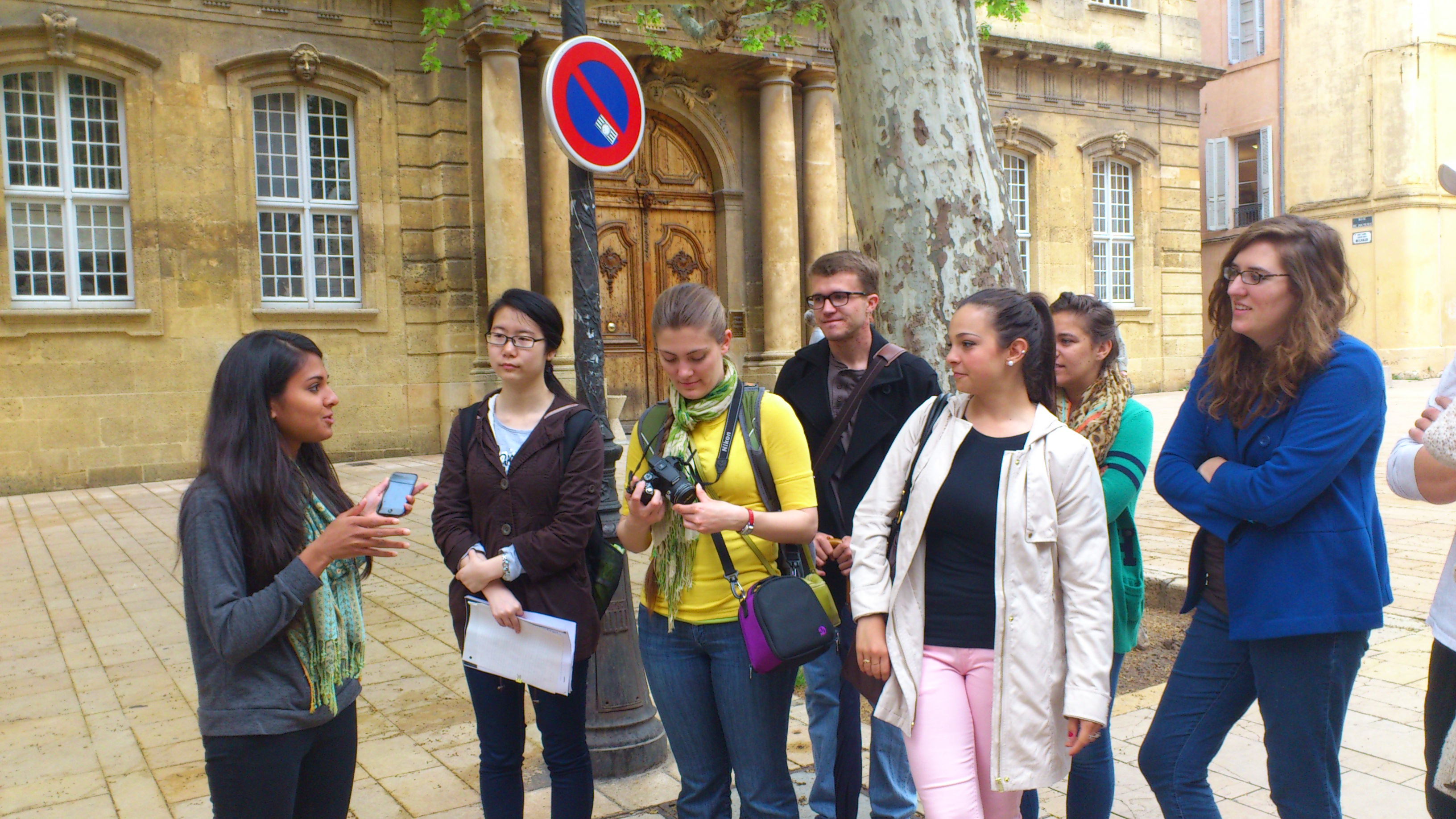 Students on a customized program in France