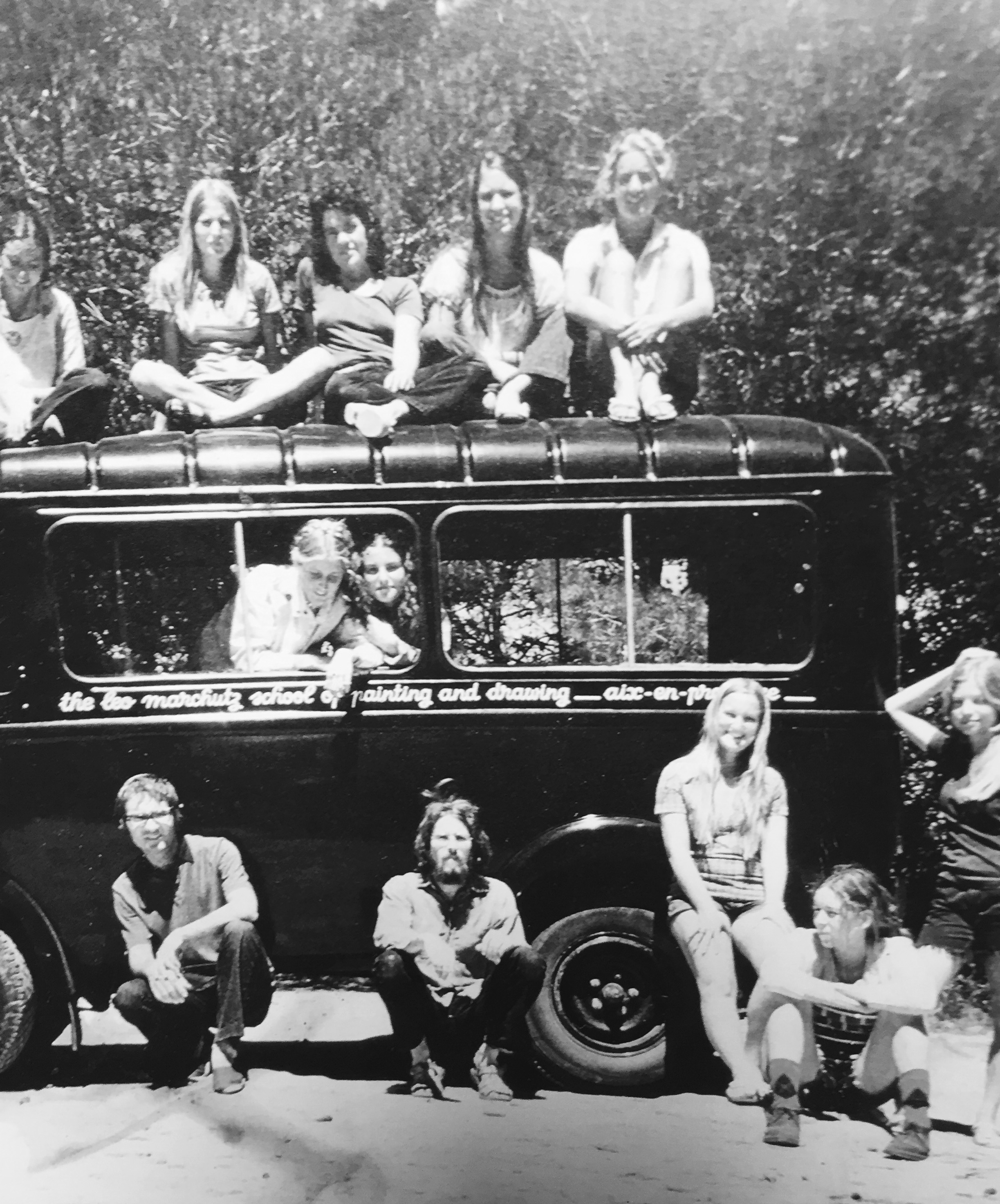 The Marchutz School Police Bus at first summer school in 1972