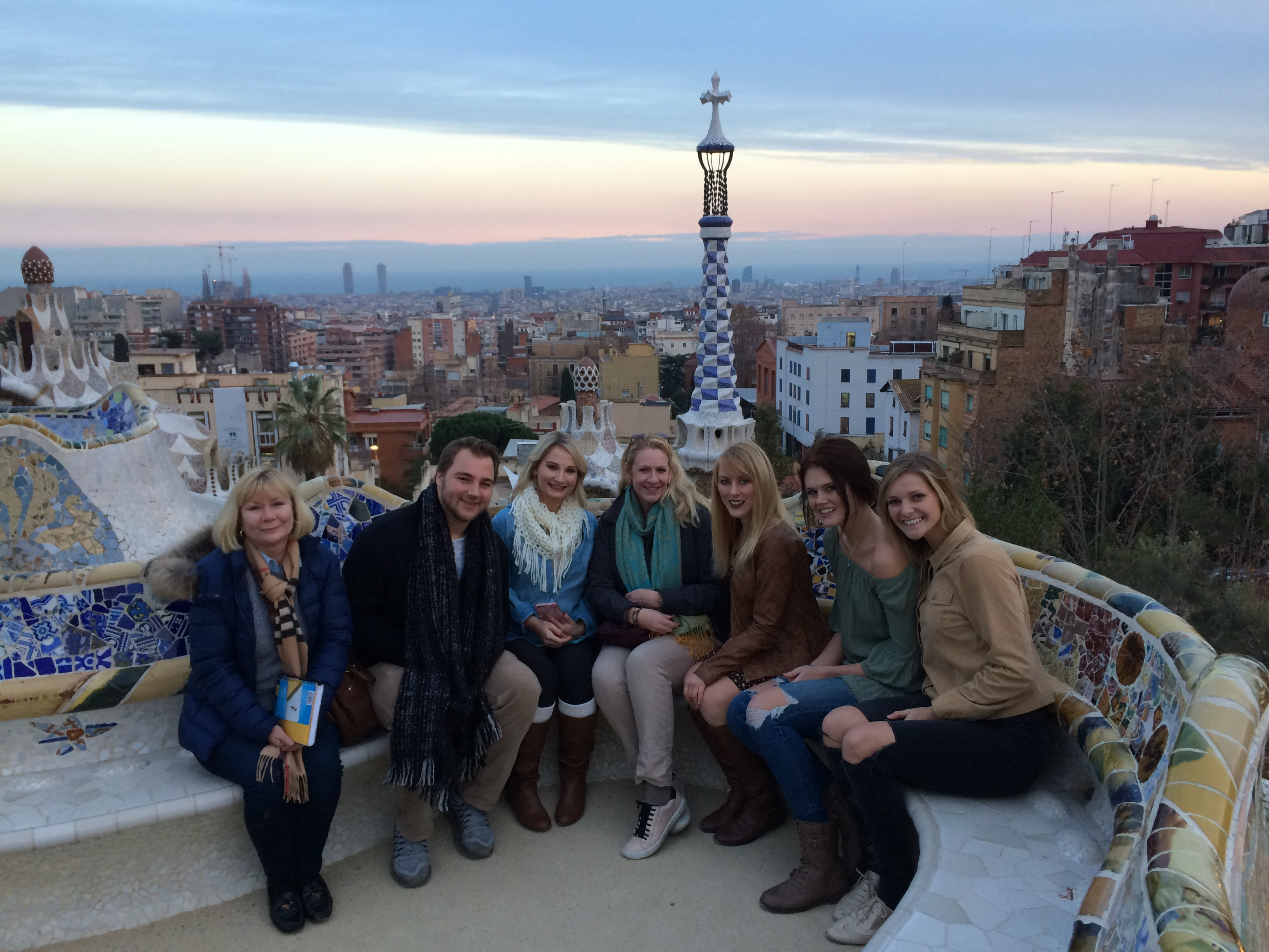 Students visit Parc Guell on a Field Study Tour