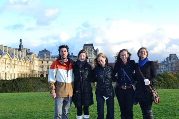 IAU J-Term students visiting the Louvre in Paris, France