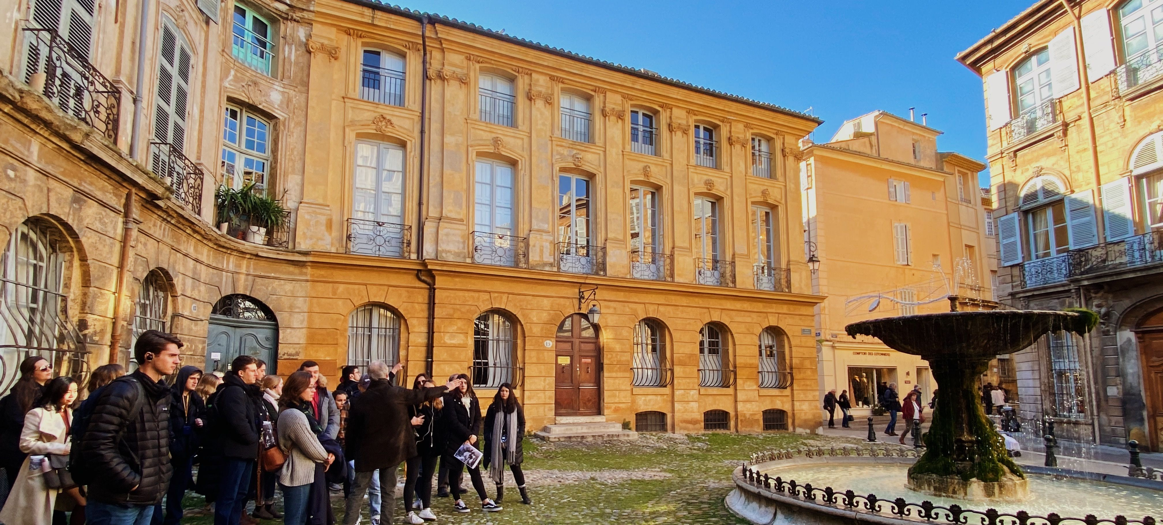 Aix-en-Provence with students studying abroad